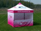 Classic Canopy offers an affordable solution for those looking for a custom printed scissor-framed tent, but are on a tight budget. Features: Waterproof roof and polyester walls 200 g/m2 Aluminium frame […]